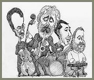 The Richard Gardzina Quartet, Drawing by Bob Nilson
